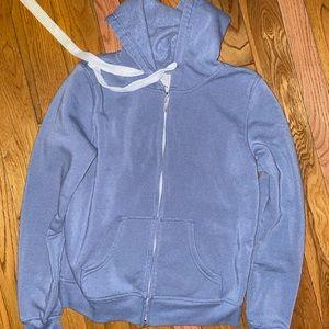 Light Blue Zip Sweater